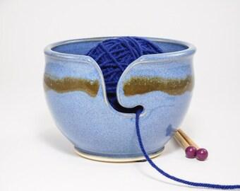 Yarn Ceramic Bowl - Hand Made Yarn Bowl - Yarn Bowl Pottery - Crocheting Bowl - Crochet Yarn Bowl - Knitting Yarn Bowl - In Stock