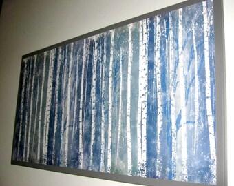 Birch 12x24 .. Magnet Dry Erase Memo Board / Housewarming Gift /Office Decor / Desk /Organization / Wall Hanging /Message Board / Dorm Decor