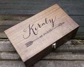 Custom Wedding Gift, personalized wine box, card box, memory box, love letter box, wedding wine box ceremony, anniversary housewarming gift
