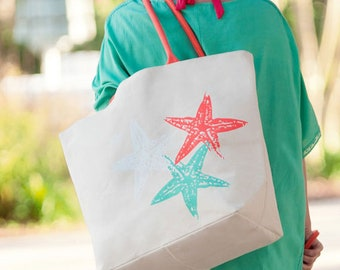 10 wedding guest welcome bags custom monogrammed starfish totes Outer Banks beach wedding bridal beach wedding guest BeachHouseDreamsHomeOBX