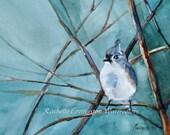 blue Bird Art Print bird wall art bird home decor Painting bird Bird picture Watercolor Brown Bird Painting vintage style bird painting dp