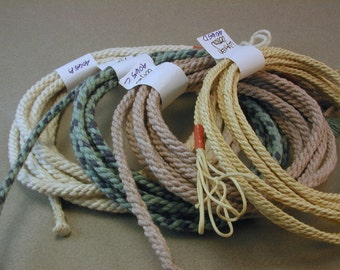 handmade rope segments collection macrame cord craft rope hand dyed color cord 4065