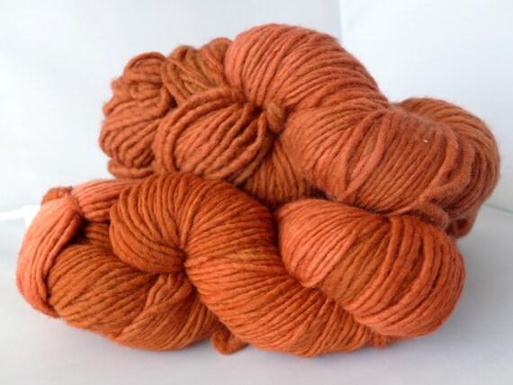 Malabrigo Yarn Merino Worsted - Red Lava, 79 - Orange Red Worsted Aran Kettled Dyed Merino Yarn