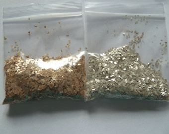 10g Mica Flakes Silver or Gold Colour Ideal for Kiln Glass Fusing
