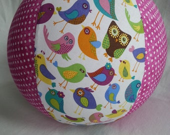 Balloon Ball - Cheep Cheep Country Chic - Birds Owls Flowers and polka dots - Great Easter basket toy or Birthday Party Gift