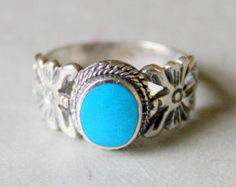 Turquoise Sterling Silver Ring Vintage