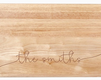 "Large Custom Cutting Board - Wooden Cutting Board, Personalized Cutting Board, Custom Engraved Cutting Board - 18"" x 12"" x 1 3/4"""