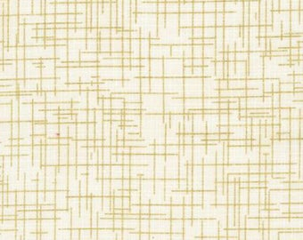 Robert Kaufman Quilter's Linen Ivory with metallic gold