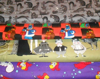 HALLOWEEN #7  Fabrics, Sold INDIVIDUALLY not as a group, by the Half Yard