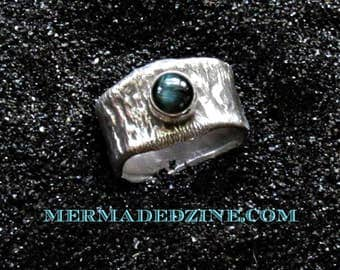 Blue Cat's Eye Tourmaline Power Ring