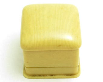 Celluloid Ring Box Vintage Jewelry Display Vintage Plastic French Ivory
