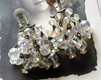 Vintage Laguna Dangle Crystal Earrings
