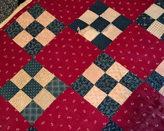 Antique quilt | Etsy : antique quilt repair - Adamdwight.com