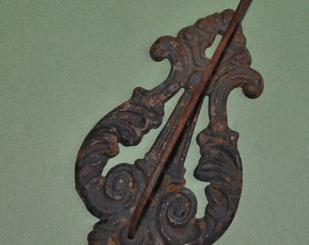 Antique Victorian Cast Iron Receipt Invoice Paper Wall Hook