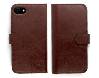 Leather iPhone 7 case, iPhone 6s Case, iPhone 6s Plus Case - Octopus