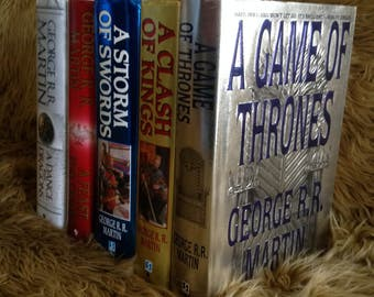 Complete First Edition Set A Song of Ice and Fire Game of Thrones Books 1-5 G.R.R. Martin Bantam Hardcover Set Free US Shipping