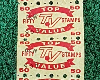 Vintage 60s Top Value TV Yellow Stamps, Trading Stamps,  Stickers, Collectibles, Craft Supplies