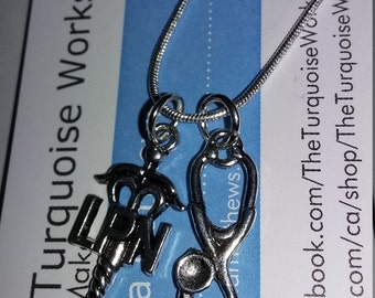 SHOW Me Your STETHOSCOPE Nursing Necklace,LPN and Stethoscope Necklace
