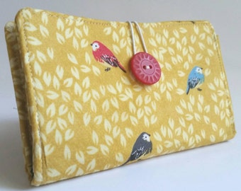 Tampon and Pad Holder Lemon Yellow (Privacy) Wallet - Little Birds