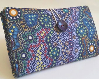 Colorful Tampon and Pad Clutch- Aboriginal