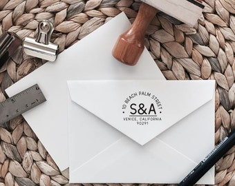 Custom Return Address Stamp | Arch Style | Wood with Handle or Self Inking
