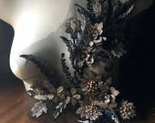 Black Gold Copper Applique, Beaded and Embroidered for GRAD, Lyrical Dance, Ballet, Couture Gowns, Costume Design