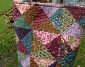 Scrap Basket Quilted Tote, Kim Diehl, Civil War, Purse, Handbag, Knitting Bag,Travel Bag, Handmade Quilted Bag