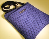 SHOULDER BAG. Made in USA. Retro fabric bag. Zipper Bag. Travel Bag. iPad Bag. Purple bag. Mid-century bag. Upholstery Bag. Slainte Bag
