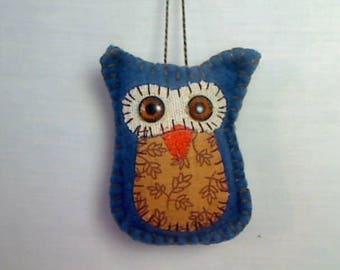X-Small Brown Owl Ornament | Felt Owl | Holidays | Halloween | Fall Decor | Handmade | Christmas | Tree Ornament | Party Favor | Gift | #2