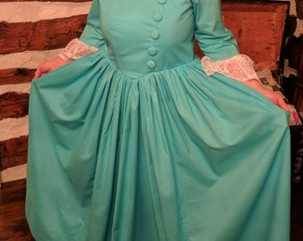 Women's Colonial dress inspired by Eliza Schuyler Hamilton custom made to order