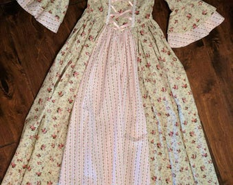 Girl Colonial Dress Ready TO SHIP SIZE 7/8