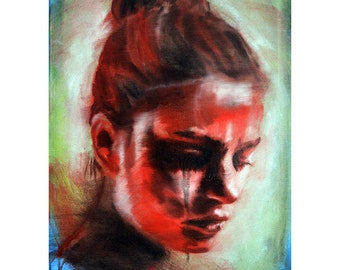 oil painting, Original Painting, oil on canvas, inch 28x20, one of a kind, portrait, hand painted, ready to hang, OOAK