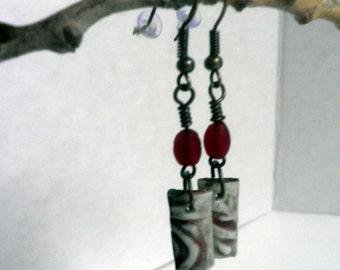 handmade Porcelain Earrings, dangle earrings