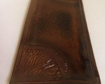 handmade Sea Kelp Platter, high-fired Stoneware