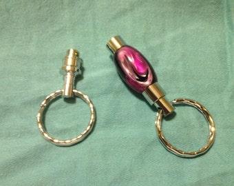 Purple Acrylic Detachable Keyring
