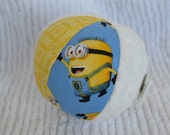 "4"" MINIONS Baby Toy Cloth Jingle Ball"