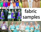 Fabric Samples for the Infinity Convertible Dress ... 38 Colors... Bridesmaids Dress,  Wedding Dress, Bohemian Dress,  Maternity Dress