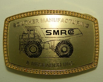 Southern Manufacturing and Research Belt Buckle Alumaline 4108 Coal Mining SMR Belt Buckle Mining Dump Truck Haul Truck