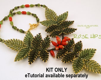 KIT ONLY for Rose Hips Beaded Nacklace
