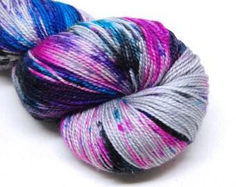 "Acoustic Sock Yarn - ""Mixtape"" - Handpainted Superwash Merino - 400 Yards"