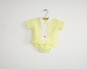 Vintage Yellow Baby Outfit