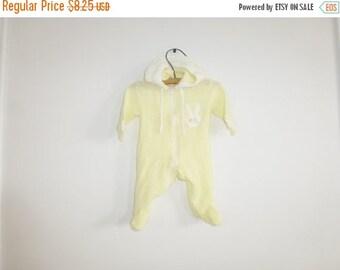 SALE // Vintage Yellow Infant Sleeper