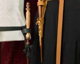 Leather Wand Holster - hang your own wand from your belt, or one of mine.