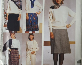 Easy Slacks Pants Skirt with pleat options 16 18 20 McCalls P984