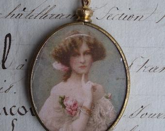 The Secret - Vintage Assemblage Pendant