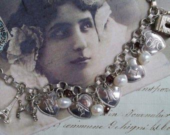 J'adore Paris - Vintage Assemblage Charm Bracelet