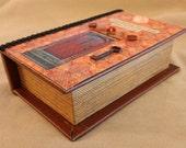 Book Box reddish brown jewelry box secret storage