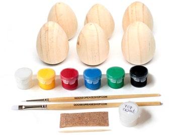 Fair Trade DIY Wooden Egg Kit // Kids Complete Art Craft Kit