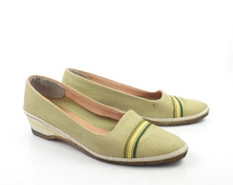 Bally Espadrilles Shoes Vintage 1980s Made in Italy Leather Women's