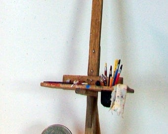 Miniature Artist Easel  1:12 Scale